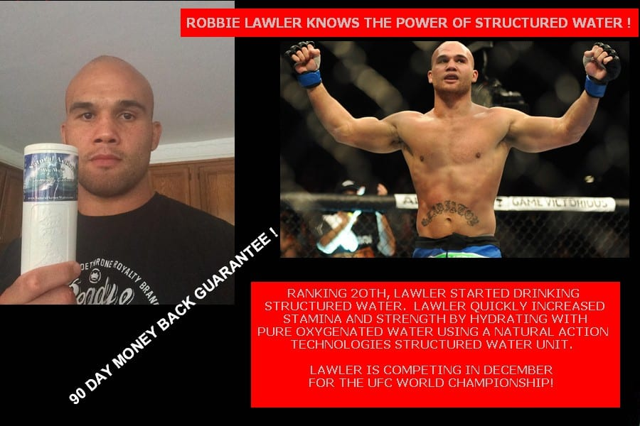 Robbie Lawler Structured Water